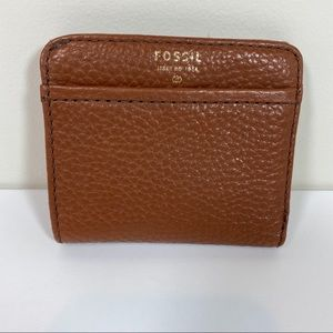 Fossil Brown leather small wallet